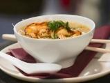 Супа с оризови спагети и скариди